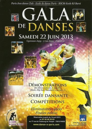 Gala de danse de Paris 22  juin 2013