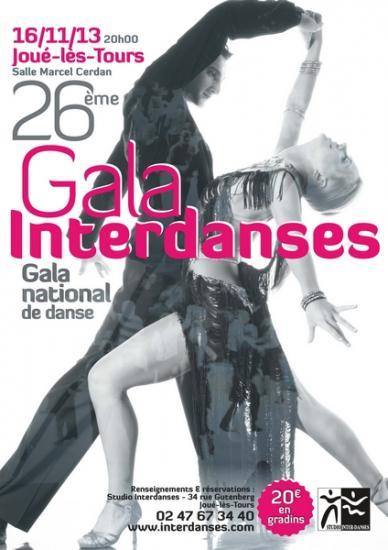 26ème Gala Interdanses à Tours le 16 novembre 2013