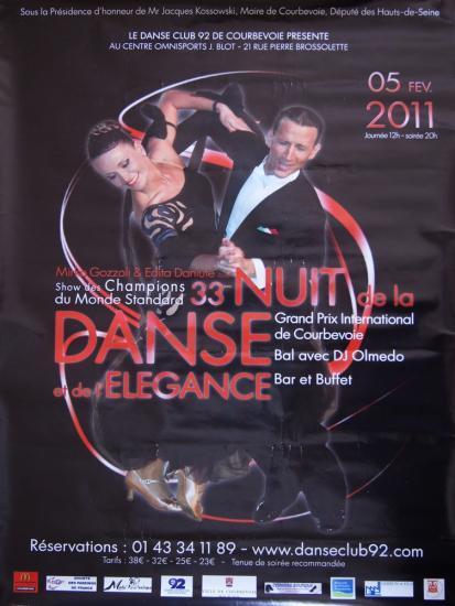 33ème Nuit de la danse à Courbevoie le 05 février 2011