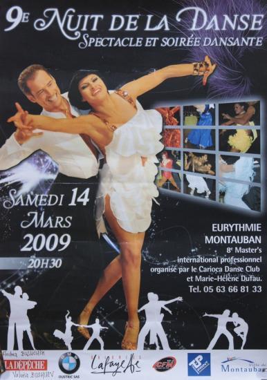 9ème nuit de la danse à Montauban le 14 mars 2009