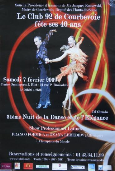 31ème Nuit de la danse à Courbevoie le 7 février 2009