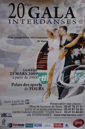 20ème Gala Interdanses à Tours le 21 mars 2009